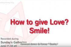 Souriez pour donner de l'amour: