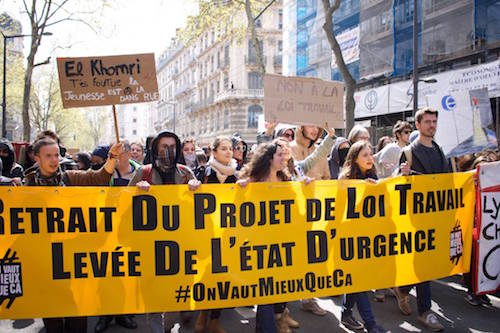 Manifestations à Lyon - 10 Avril 2016