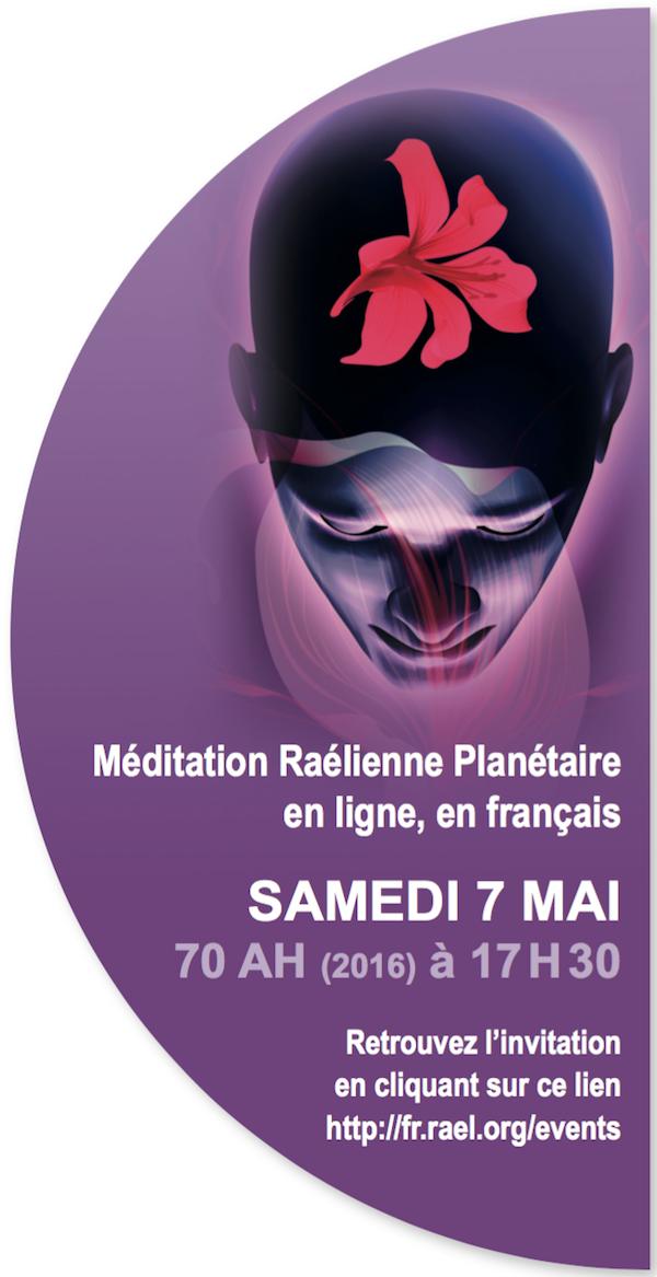 Meditation Raélienne le 7 mai, en ligne