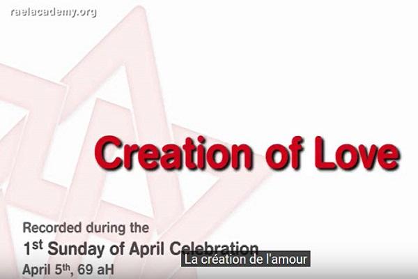 creation de l'amour