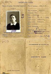 Carte identité palestinienne 1939