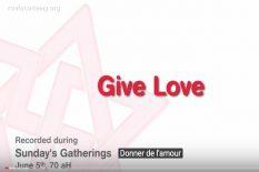 Donner de l'Amour