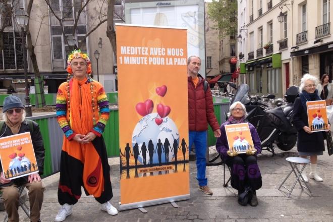 Une Minute Pour la Paix Méditer Pour la Paix, Paris