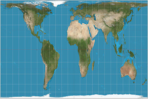 mappemonde projection peters