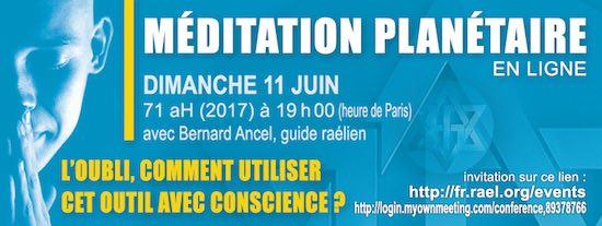 Méditation planétaire en ligne, Juin 2017