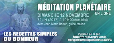 méditation planétaire en ligne Novembre