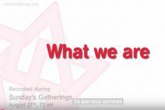 ce que nous sommes
