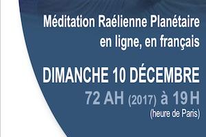Méditation planétaire en ligne, Décembre 2017