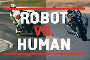 moto pilotée par robot moto pilotée par ordinateur