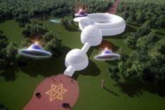 ambassade pour des extraterrestres rael raelien raelienne ovni ufo swastika ambassade pour extraterrestres