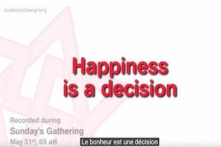 le bonheur est une décision