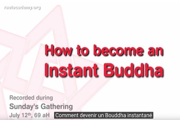 Bouddha dans l'instant