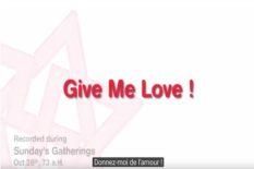 envoyer de l'amour donner-amour donnez-moi de l'amour