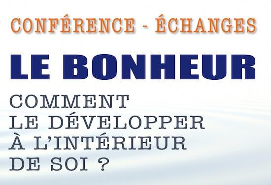Conférence Bonheur Lyon 7 novembre