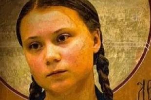 """Sainte Greta Thunberg, """"apôtre"""" du Climat bientôt canonisée ?"""