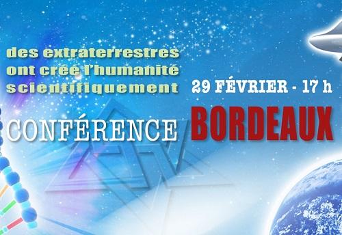 Conférence raélienne Bordeaux 29 Février 2020
