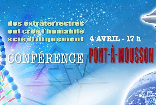 conférence raélienne Pont-à-Mousson 4 Avril 2020