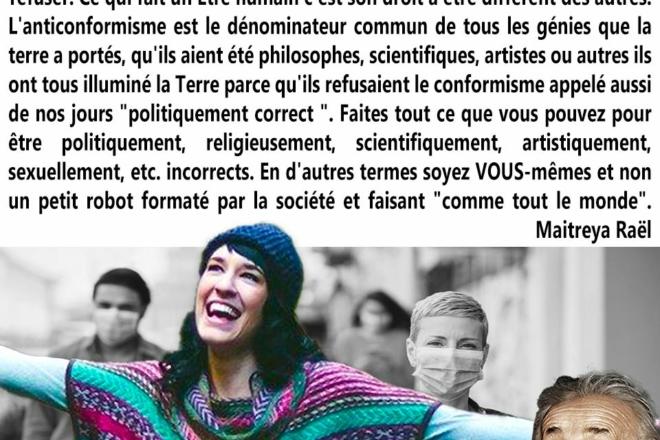 Refuser de porter un masque pour le du Droit Fondamental à l'anti-conformisme