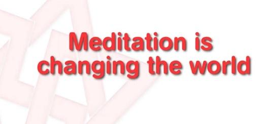 Méditer pour changer le monde