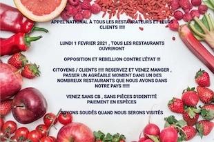 Appel national à tous les restaurateurs et leurs clients !