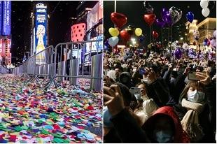 le contraste saisissant à la veille de la nouvelle année 2021 !