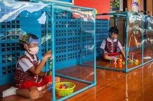 covid des enfants en cage