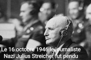 Le journaliste Nazi Julius Streicher pendu