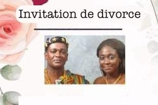 Invitation à une fête de divorce