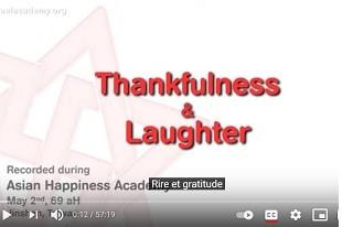 Académie du Bonheur à Taiwan gratitude