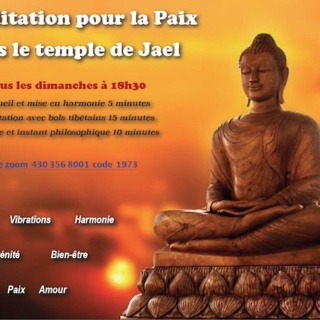 Méditer pour la paix le Dimanche à 18h30