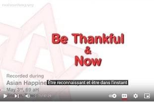 Gratitude et Vivre l'Instant